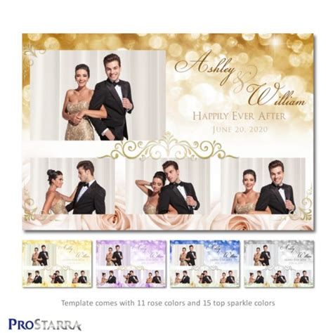 Chic Meets Rustic Love 6x4 Inch Photo Booth Wedding Engagement Party Template Layout Free Wedding Photo Booth Templates