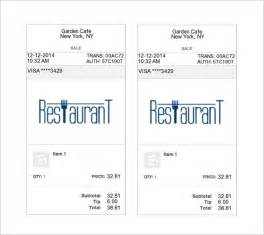 restaurant receipt template restaurant receipt template 10 free word excel pdf