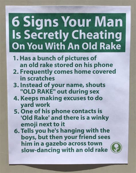 7 Signs Your Spouse Is by Obvious Plant On Quot The Warning Signs 6 Signs