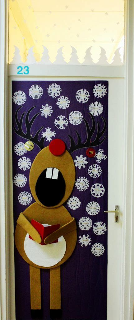 Door Decoration Ideas For Christmas cool christmas door decorations littlepieceofme