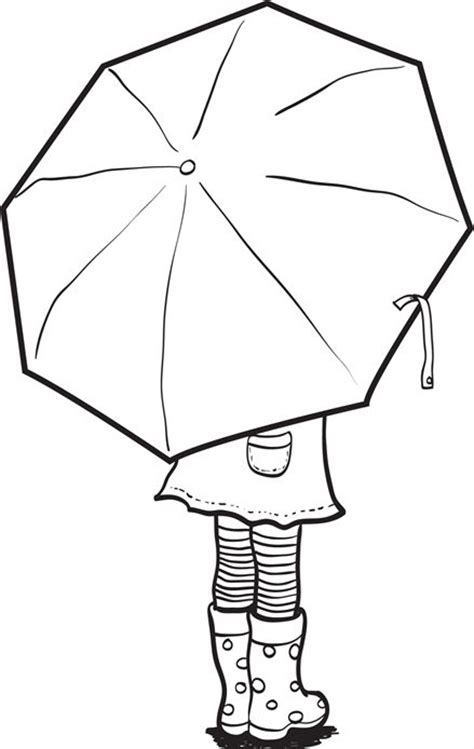 coloring page of umbrella umbrella coloring page colouring pinterest craft