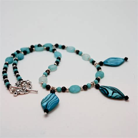 3564 shell and semi precious necklace by teresa mucha