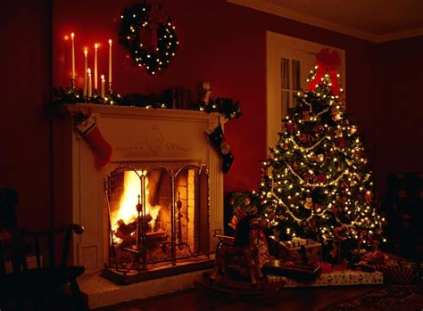 christmas fireplace fire holiday festive decorations u