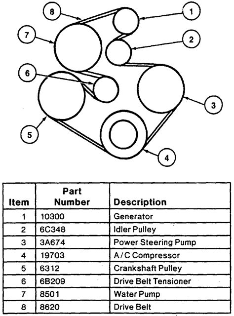97 ford belt diagram 97 taurus 3 0 litre w o dohc w ac i m