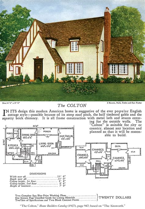 tudor house plans 1920 s the colton a 1920s tudor revival cottage cottages