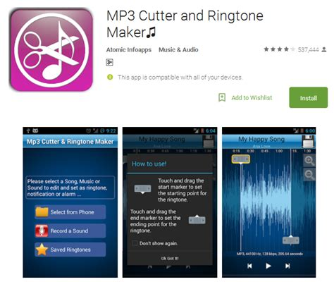 mp3 cutter download play store 10 best ringtone apps for android 2017 andy tips