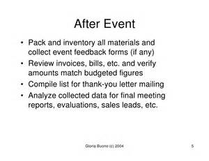 event planning guidelines by gloria buono