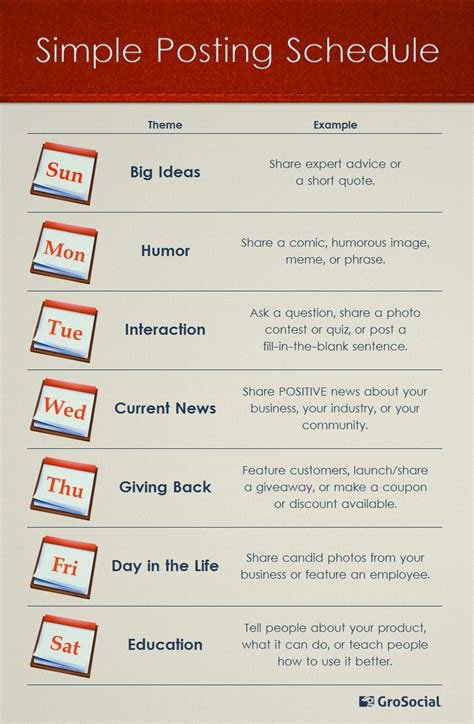 themes for facebook posts strapped for content ideas try daily themed social media