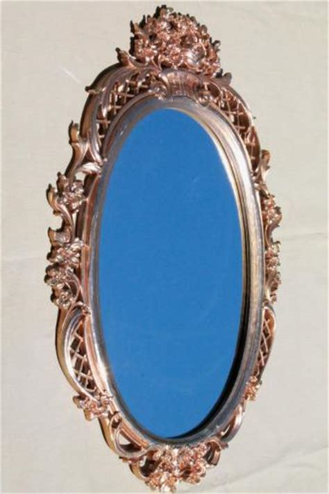 rococo patterned double wall glass vintage gold rococo wall mirror ornate syroco wood frame