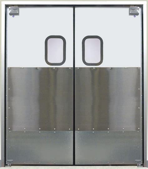 commercial kitchen double swing door eliason corp easy swing door div commercial double