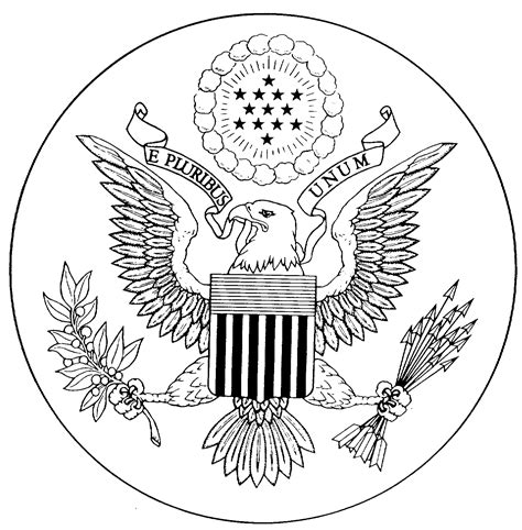 Great Seal Of The United States Coloring Page great seal of the united states coloring page az