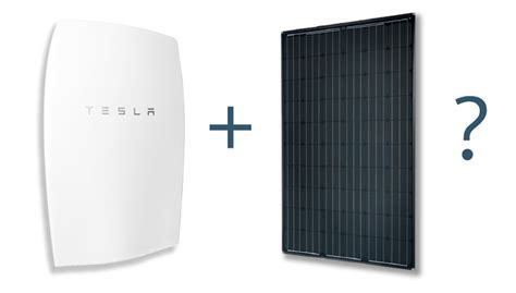 what battery does tesla use does the tesla powerwall work with solar panels