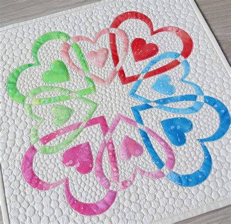 heart pattern for applique heart quilt patterns love is in the air heart quilt