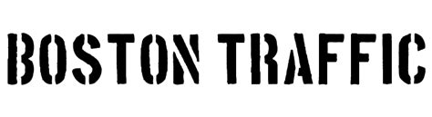 boston traffic font boston traffic font
