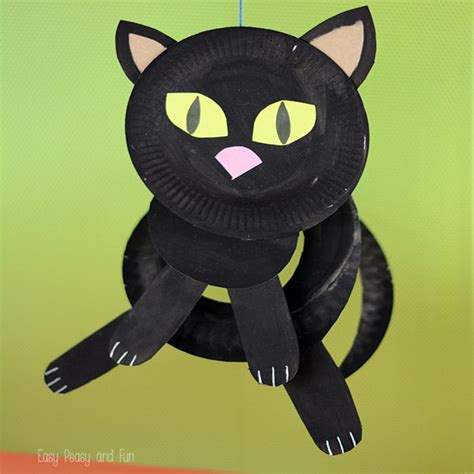 Cat Paper Craft - paper plate black cat paper plate crafts for easy