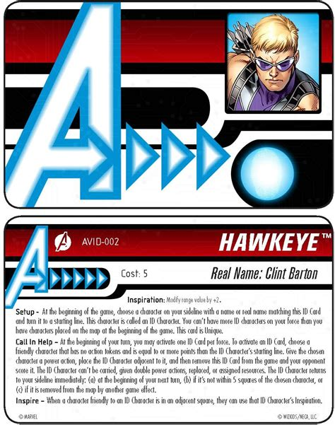 Heroclix Card Template by Heroclix World How It Works Id Cards