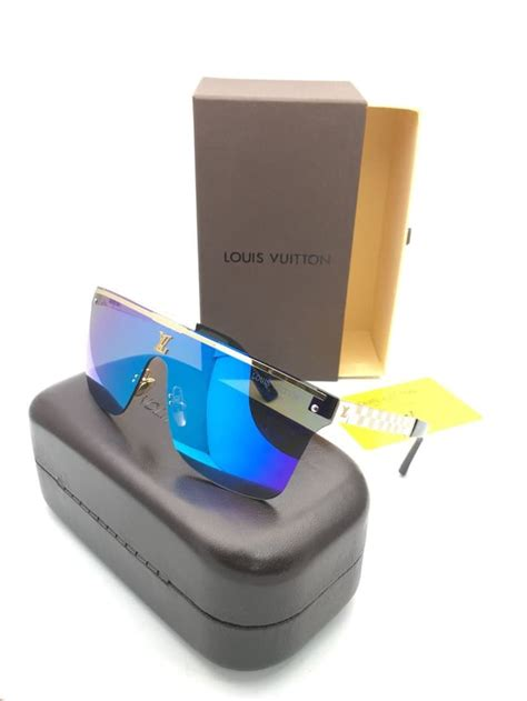 kacamata sunglasses louis vuitton lv 0882 biru pusat