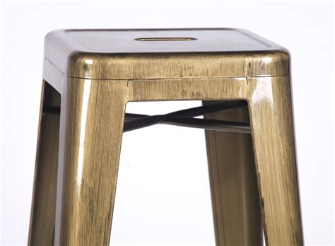 Brushed Gold Bar Stools by Metal Brushed Brass Gold Medium Bar Stool Furniture La