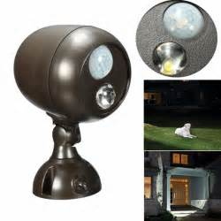 battery operated sensor lights outdoor 3w wireless pir motion sensor spot light battery powered