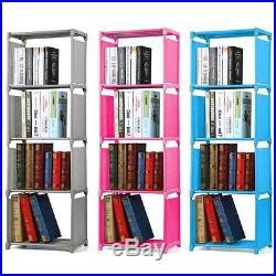 Childrens Fabric Bookcase 4 tier bookcase bookshelf childrens room waterproof fabric storage shelves children s