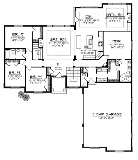 ranch floor plans with great room martin place ranch home plan 051d 0749 house plans and more