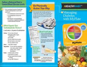diabetes myplate tri fold brochures