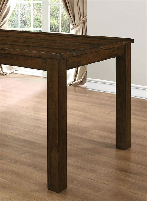coaster wiltshire counter height table rustic pecan
