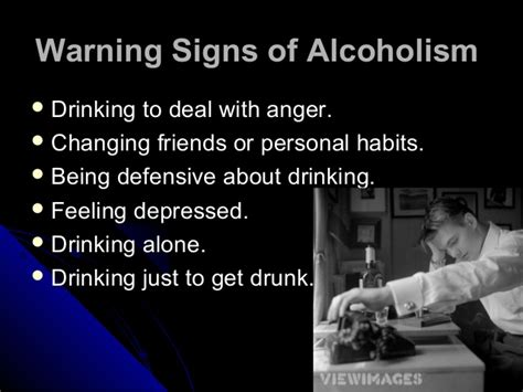 10 Warning Signs Of Alcoholism by Alcoholism Warning Signs Abuse