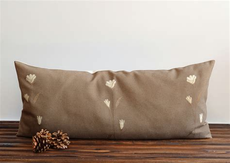 Big Pillows For by Large Bolster Pillow Cover Embroidered Pillow Cover 16x35