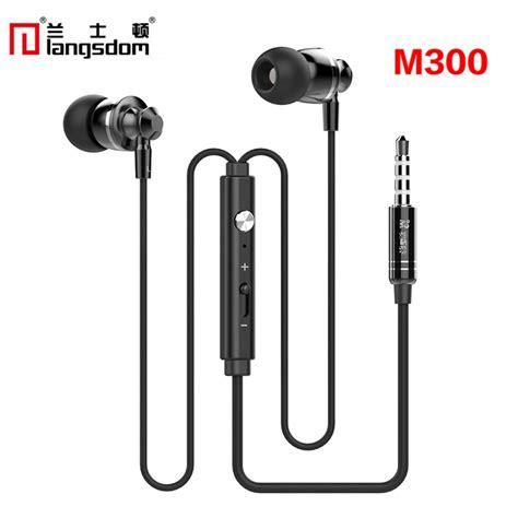 Earphone Iphone 6 Original original langsdom m300 metal earphones with mic volume earphone for iphone 6 for samsung