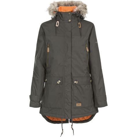 Fashion Wanitajaketblazerjaket Wanitajaket Parkajaket Outdoor trespass womens clea waterproof faux fur trim parka jacket ebay