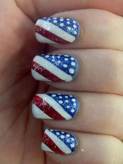 Red Acrylic 4th Of July Nils | 15 fourth of july acrylic nail art designs ideas trends