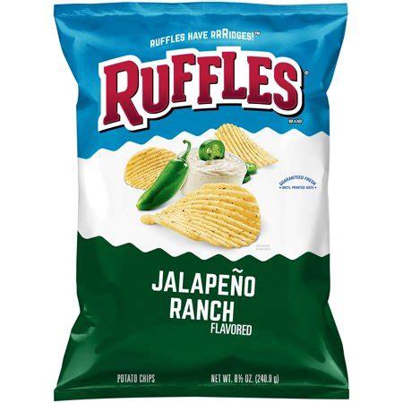ruffles jalapeno ranch flavored potato chips 8.5 oz. bag
