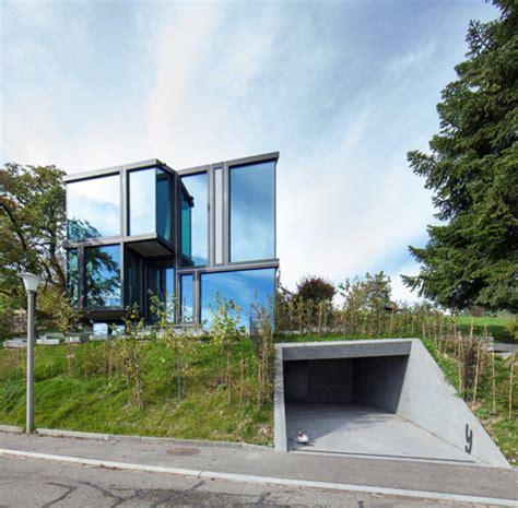 unterirdische garage voller durchblick glashaus l3p architekten detail