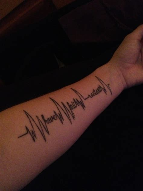 heartbeat writing tattoo 81 indescribale forearm tattoos you wish you had