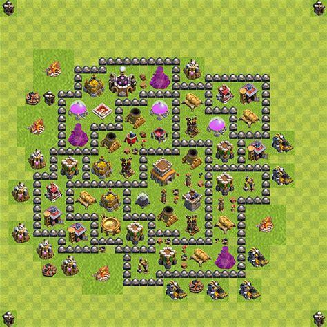 layout coc rh8 die base f 252 r troph 228 en verteidigung in clash of clans
