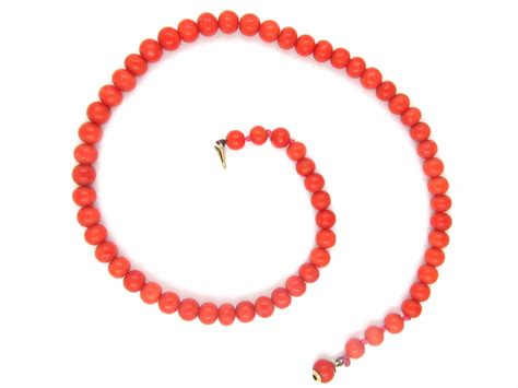 coral bead necklace coral bead necklace the antique jewellery company