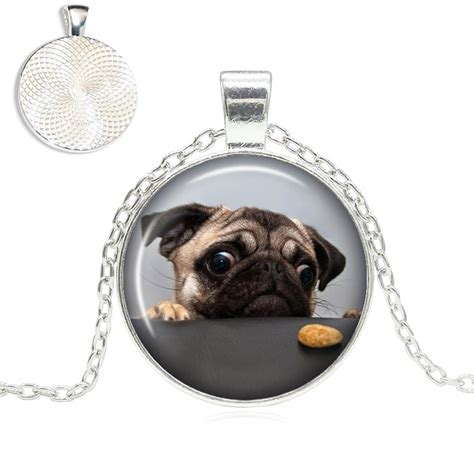 top pet gifts pug cookie glass dome necklace top pet gifts