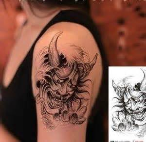 removable tattoos for adults japan prajna mask painting temporary for