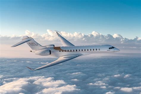 bombardiers global    class  business jet  life   clouds