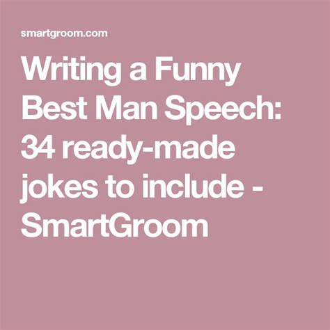best man jokes writing a funny best man speech 34 ready made jokes to