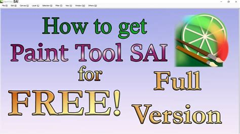 paint tool sai kostenlos how to get paint tool sai for free version 2018
