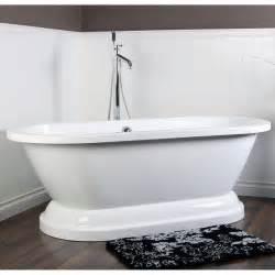 pedestal soaking tub contemporary ended 67 inch acrylic pedestal bathtub