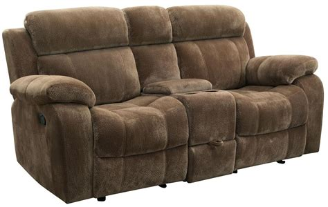 gliding recliner loveseat myleene double gliding reclining loveseat from coaster