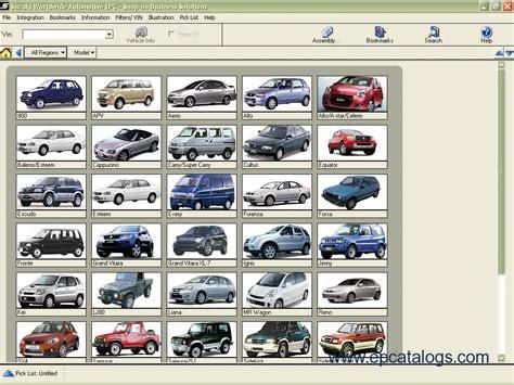 Spare Part Suzuki suzuki worldwide automotive epc 2011 spare parts catalog