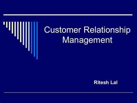 Customer Relationship Management Ppt For Mba by Customer Relationship Mgmt
