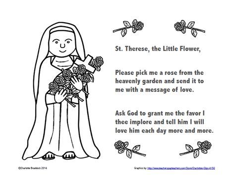 free st therese color and pray printable printable