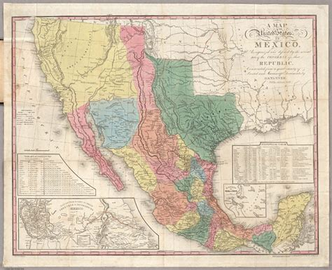 henry schenck s 1847 map of mexico which includes
