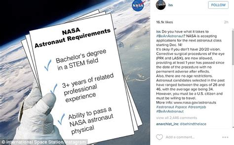 Bachelor S In Math Want Mba by Nasa Is Now Accepting Applications For New Astronaut