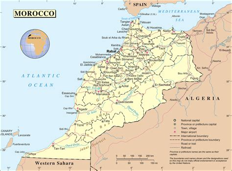 africa map morocco political and administrative map of morocco morocco